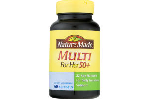 Nature Made Multi For Her 50+ - 60 CT