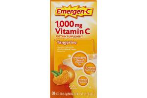 Emergen-C 1,000mg Vitamin C Dietary Supplement Tangerine - 30 CT