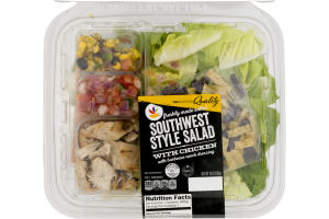 Ahold Southwest Style Salad with Chicken and Barbecue Ranch Dressing