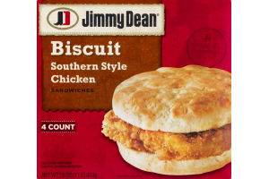 Jimmy Dean Biscuit Sandwiches Southern Style Chicken - 4 CT