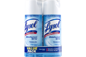 Lysol Disinfectant Spray Crisp Linen Scent Value Pack - 2 PK