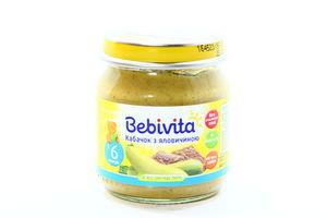 Пюре для детей от 6мес Кабачок с говядиной Bebivita с/б 100г