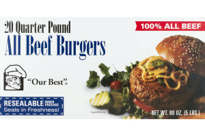 Our Best All Beef Burgers - 20 CT