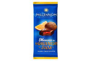 Шоколад Millennium мусовий чор.апельсин 135г
