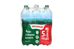 Вода мінеральна Моршинська сл/г 1,5л 5+1 ПЕТ х24