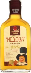 Настойка 0.2л 38% Медовая Наливки зі Львова бут