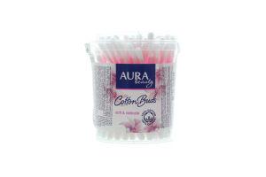 Aura Beauty палички ватні 100шт стакан