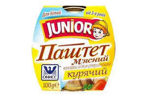 Паштет мясной куриный Онисс Junior к/у 100г