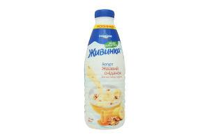 Йогурт 1.5% Банан-мед-орехи Живинка п/бут 850г