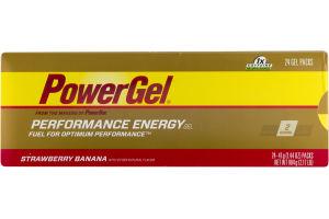 PowerGel Performance Energy Gel Strawberry Banana - 24 CT