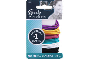 Goody Ouchless No Metal Elastics - 36 CT