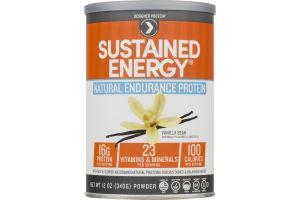 Designer Protein Sustained Energy Natural Endurance Protein Powder Vanilla