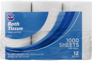 Ahold Bath Tissue Long Lasting - 12 CT