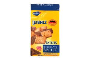 Печенье Minis Choco с молочным шоколадом Leibniz 100г
