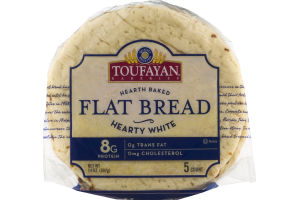 Toufayan Bakeries Flat Bread Hearty White - 5 CT
