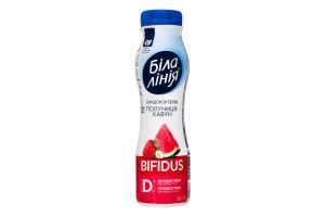 Бифидококтейль 1.5% Клубника-арбуз Bifidus Біла Лінія п/бут 250г