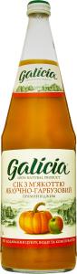 Сік Galicia Яблучно-гарбузовий з м`якоттю с/б 1л х6