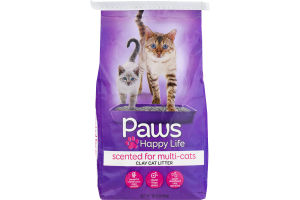 Paws Happy Life Clay Cat Litter Scented