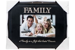 Malden International Designs 4 X 6 Family Picture Frame Black