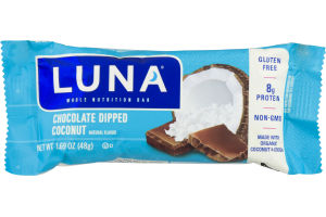 Luna Whole Nutrition Bar Chocolate Dipped Coconut