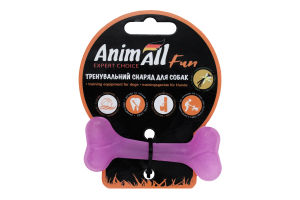 Снаряд тренировочный для собак 8см фиолетовый №88104 Кость Fun AnimAll 1шт