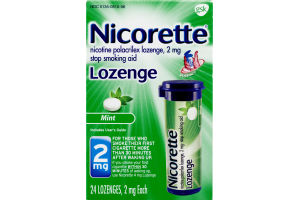 Nicorette Lozenge Mint 2 mg - 24 CT