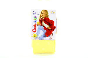 Колготки Conte Kids Class для дівчат Жовті 80-86