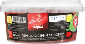 Перець гострий солоний Чудова марка п/у 400г