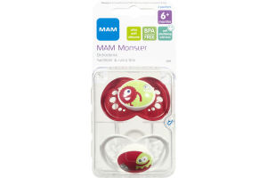 MAM Monster Pacifiers Orthodontic 6+ Months Sterilzer & Carry Box - 2 CT
