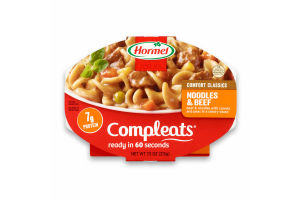 Hormel Compleats Noodles & Beef, 7.5 Ounce