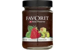 Favorit Swiss Preserves Strawberry-Rhubarb