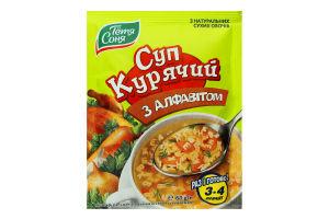 Суп курячий з алфавітом Тётя Соня м/у 60г