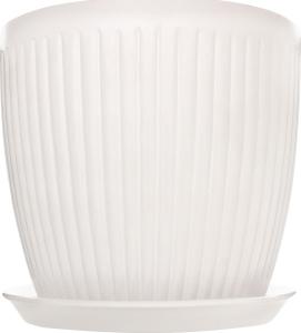 Горщик Вертикаль 18*17*3,0 білий лак, кераміка