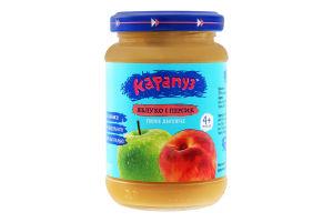 Пюре для дітей від 4міс з яблук і персиків Карапуз с/б 200г