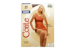 Колготы женские Conte Nuance 40den 2-S bronz