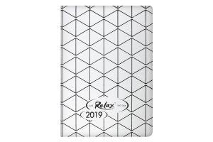 Ежедневник дат. 2019 RELAX, A6, 336 стр., серебро
