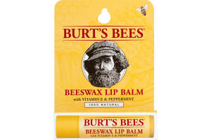 Burt's Bees 100% Natural Moisturizing Lip Balm, Beeswax, 1 Tube in Blister Box