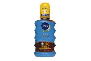 Спрей-масло солнцезащитное водостойкое SPF 20 Защита и загар Sun Nivea 200мл