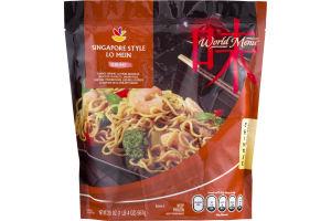 Ahold World Menu Chinese Singapore Style Lo Mein Shrimp