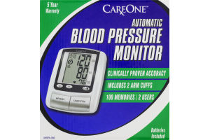 CareOne Automatic Blood Pressure Monitor