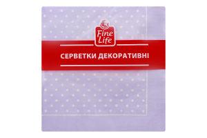 Салфетки бумажные декоративные лавандовые Горошки Fine Life 18шт