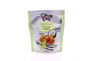Чіпси Cocodeli кокосові зі смаком ванілі 15г х30
