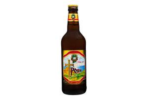 Пиво 0.5л 4.5% світле живе непастеризоване Микулин Троян пл