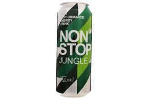 Напій безалкогольний енергетичний сильногазований Jungle Non Stop ж/б 0.5л