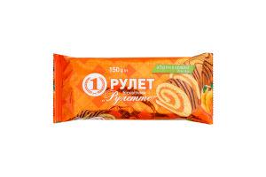 Рулет бисквитный с абрикосовым вкусом Рулетте №1 м/у 150г
