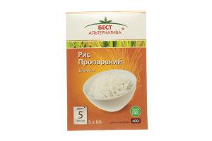 Рис пропаренный в пакетиках Бест Альтернатива к/у 5х80г