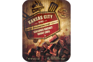 Curly's Kansas City Style with Barbeque Sauce Seasoned Brisket Burnt Ends
