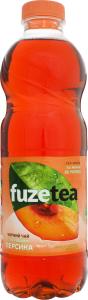 Напій безалкогольний негазований Чорний чай зі смаком персика Fuzetea п/пл 1л
