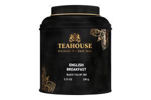 Чай черный байховый листовой Английский завтрак Teahouse ж/б 100г