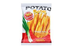 Палички оригінальні зі смаком картоплі з цибулею Potato boom м/у 25г